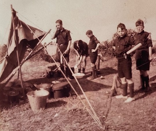 At Camp in 1930